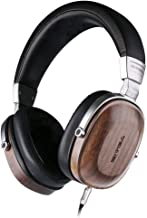 SIVGA SV006 Over Ear Headphones with Premium Wood and Hi-Fi Stereo, Closed Back and Studio Wired Headset with Passive Noise Cancelling, Built-in Mic, Soft Earmuffs and Carrying Case (Walnut)