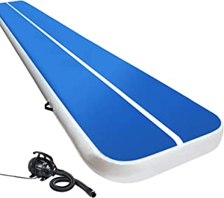Air Track Gymnastics Inflatable Airtrack Mat and Electric Air Pump 5M X 1M Tumble Floor Gymnastic Training Cheerleading Yo...