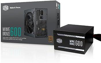 Cooler Master MWE 600 Bronze, 80+ Bronze Certified 600W Power Supply, 3 Year Warranty