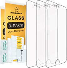 [3-Pack] - Mr.Shield for iPhone 8 / iPhone 7 [Tempered Glass] Screen Protector [0.3mm Ultra Thin 9H Hardness 2.5D Round Edge] with Lifetime Replacement