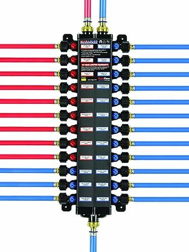 2021 Viega 49243 - 1/2-Inch PureFlow lowest Poly PEX Press Manabloc With 24 Ports - 15 Cold online sale 9 Hot outlet online sale