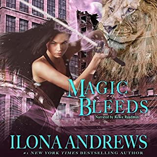 Magic Bleeds     Kate Daniels Series, Book 4              Written by:                                                                                                                                 Ilona Andrews                               Narrated by:                                                                                                                                 Renee Raudman                      Length: 13 hrs and 6 mins     15 ratings     Overall 4.7