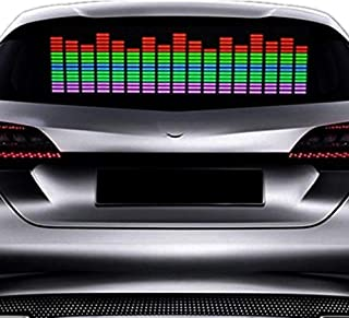 18in X 4.5in DIYAH Auto Sound Music Beat Activated Car Stickers Equalizer Glow LED Light Audio Voice Rhythm Lamp 45cm X 11cm Pink