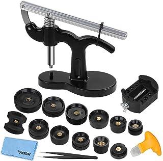 Vastar 18PCS Pressa Orologio Professionale, Chiudi Cassa Posteriore Orologio, Kit di Riparazione