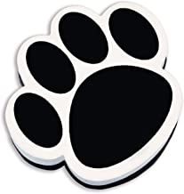 Ashley Productions ASH10017BN Magnetic Whiteboard Eraser, Black Paw, Pack of 6