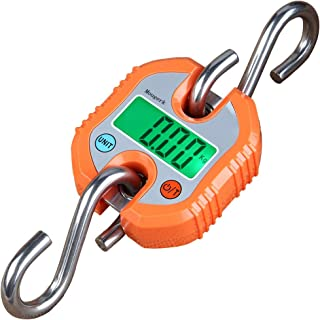 Mougerk Digital Hanging Scales Portable Heavy Duty Crane Scale 150 kg 300 lb 2 AAA Batteries(Not Included)