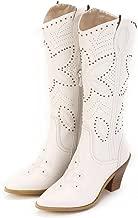 Ann Creek Women's 'Hornsby' White Studded Western Boots