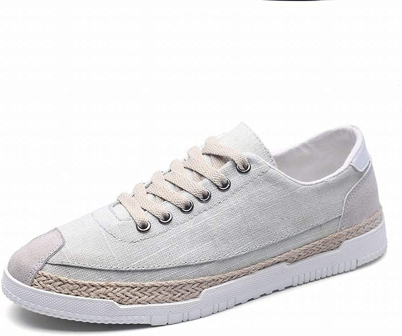Fuxitoggo Men Casual Classic Canvas shoes Men Trend Big Size Student Board shoes (color   Grey, Size   UK 6.5)