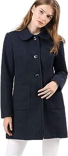 Allegra K Women's Turn Down Collar Single Breasted Winter Outwear Trench Coat