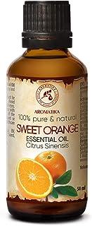 Huile Essentielle Orange Douce 50ml - Citrus Sinensis - Brasil - 100% Naturelle Pure - Huile de Orange - pour Aromathérapi...