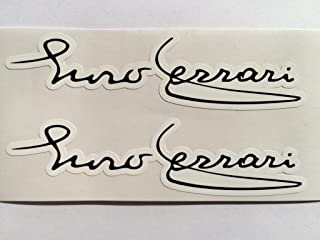 2 Enzo Ferrari Signature Die Cut Decals