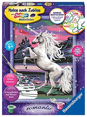 Ravensburger Malen nach Zahlen 28563 - Magisches Einhorn - Für Kinder ab 9 Jahren