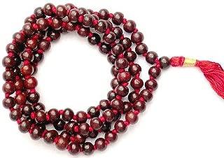 10 mm Bead Size Original Red Sandalwood Rosary 108 Beads/ 108 Lal Chandan Japa Mala - Vrindavan (3)