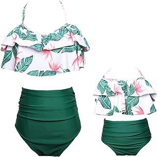 1978f3830d35e6 Yying Costumi da Bagno Mamma e Figlia Tankini con Volant Boho Hippie Chic  Bikini Floreale Due