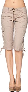 Women's Cargo Multi Pocket Bermuda Drawstring Shorts
