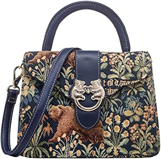 GABRIELA Top Handle/Crossbody Bag - Vegan Leather and funky artworks by Henney Bear