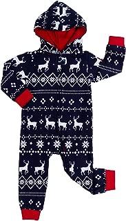 Matching Family Christmas Pajamas - Red and Blue One Piece Xmas PJ's