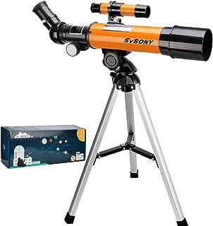 Svbony SV502 Telescopio para Niños, Telescopio Astronomico Niños Profesionales, 360/50mm con Trípode Telescopio para Niños...