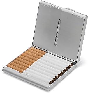 HBF Portasigarette Metallo Colorato Accessori Uomo Tiene 20 sigarette Slim Porta Sigaretta Uomo