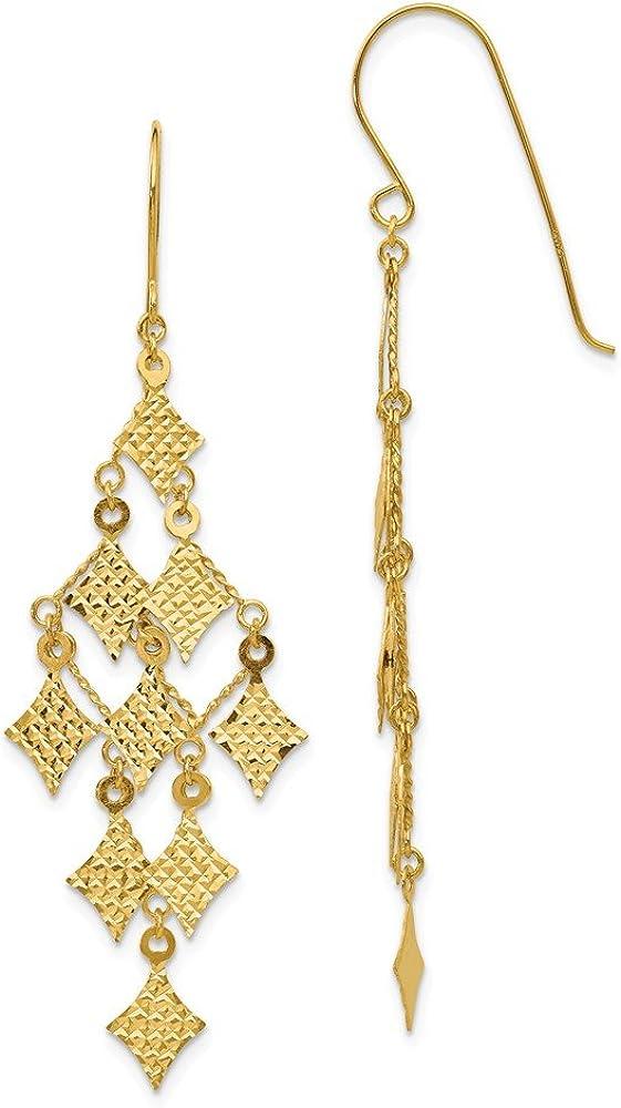 14k Yellow Gold Drop Dangle Chandelier Earrings Fine Jewelry For Women Gifts For Her
