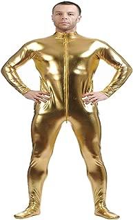 D DOLITY Shiny Spandex Full Body Suit Second Skin Bodysuit Zentai Unitard Gold M