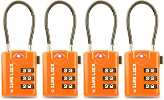 TSA Compatible Travel Luggage Locks, Inspection Indicator, Easy Read Dials - 1, 2,4,6 & 8 Pack