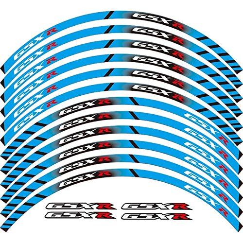 Qwjdsb para Suzuki GSX-R, Accesorios de Equipo de Carreras de Motocicletas, Rueda, llanta, decoración, Adhesivo, calcomanía Reflectante