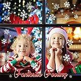 Sinwind 162 Schneeflocken Fensterbild, Fensterbilder Weihnachten Selbstklebend, Winter-deko Weinachts Dekoration, Weihnachten Fenstersticker, Winter Deko Weihnachtsdeko - 4