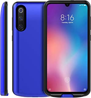 Compatible with Xiaomi Mi 9 SE 5000mAh Battery Battery Case, FugouSell Extended Battery Rechargeable Backup Charger Case Power Bank Full Protection for Xiaomi Mi 9 SE 5000mAh Battery (Blue)