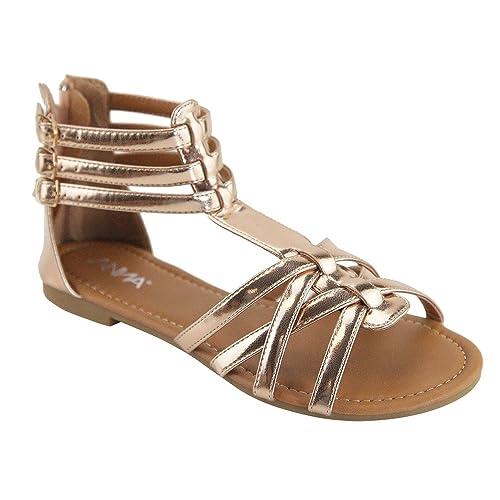 6f3ba530ee5c8 ANNA Mavis-8 Women Buckle Zip Gladiator Sandal