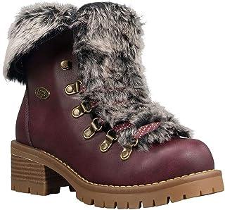 Lugz Women's Adore Fur Classic Chukka Fashion Boot, Wine/Gum, 8, M