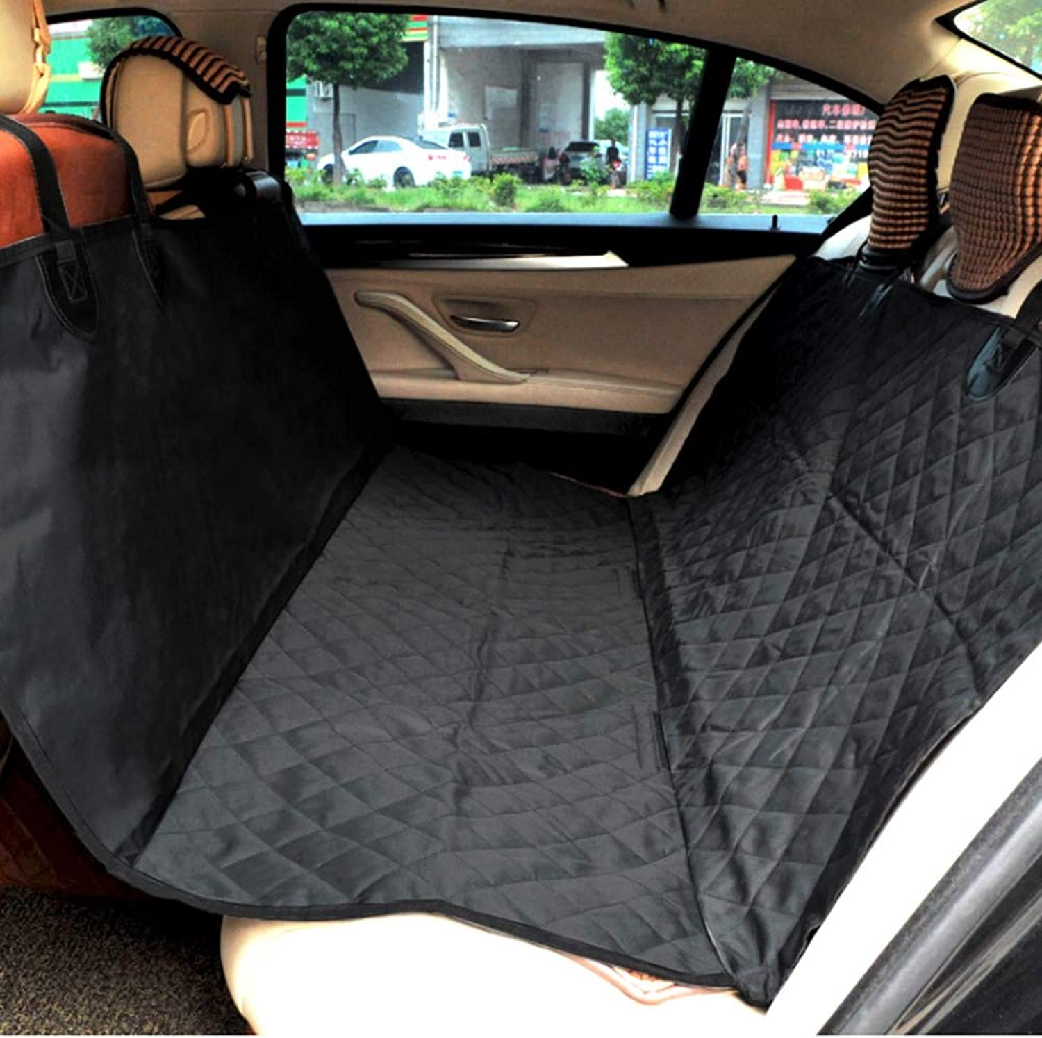 Dog Car Seat Cover, Waterproof Scratch Proof Nonslip Back Seat Cover, Washable,Dog Travel Hammock with Seat AnchorsUniversal fits All Cars,Regular