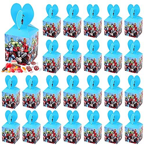 Scatole Borse Festa Bambini, 24 pezzi Vendicatori Caramella Feste Scatole Vendicatori Tema Feste Feste Compleanno Scatole per Bambini Adulti Festa Compleanno Natale Nozze Celebrazione