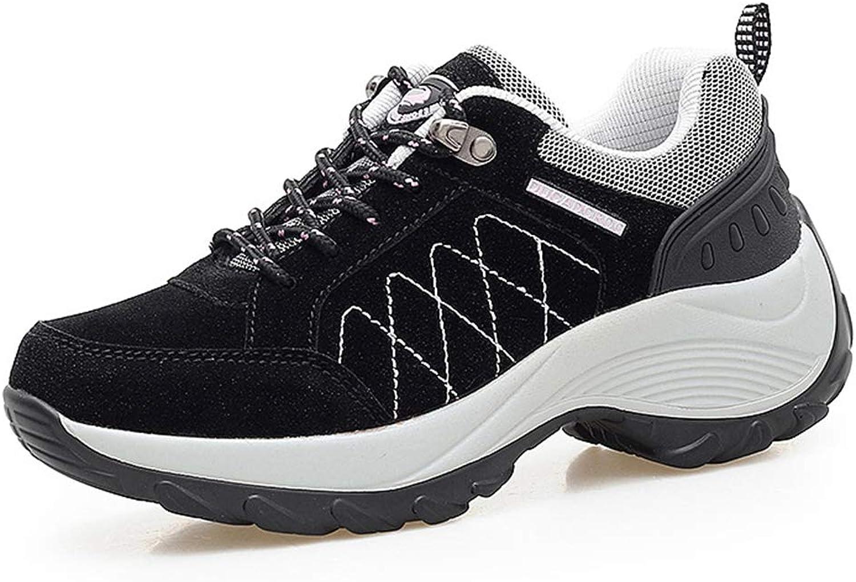 CYBLING Women's Suede Slip-Resistant Hiking shoes Comfort Outdoor Trail Trekking Walking Sneakers