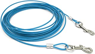 Beirui Premium 10'/16'/32' Dog Tie-Out Cable - Heavy Duty Dogs Chain Leashes - Perfect Pets Lead Small & Medium Size