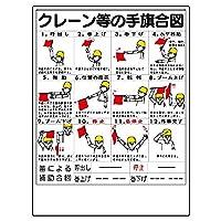 【327-30】玉掛関係標識 クレーン等の手旗合図