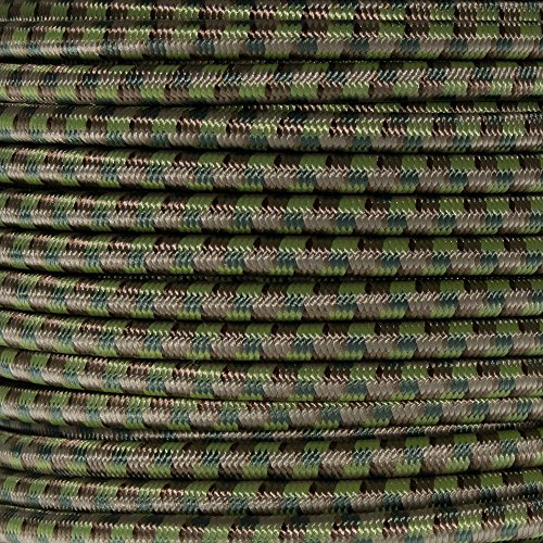 Paracord Planet 1/4 Inch Elastic Cord Crafting Stretch String, Made in USA (100 Feet, Multi Camo)