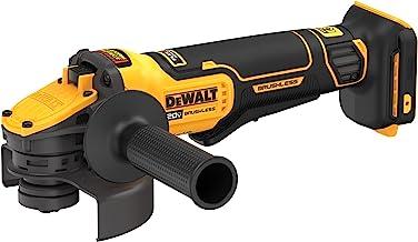 DEWALT Esmerilhadeira de ângulo Max 20 V Flex Advance, interruptor de pá, 10 cm a 12 cm, somente ferramenta (DCG416B)