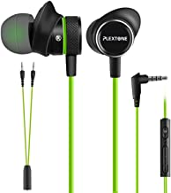 Innens 3.5 MM Wired Gaming Earphone, Noise Cancelling Stereo Bass Gaming in-Ear Earbuds with Mic and Volume Controls for iPhone, Smartphone, Nintendo Switch, PS4, Xbox One, iPad, PC (Green)