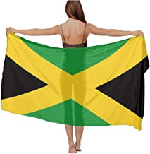 womens Swimwear Cover up Beach Sarong Wrap Jamaican Flag Scarf