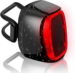 SILVIA Fahrrad Rücklicht, Intelligente USB Wiederaufladbare Automatische An/Aus Bremslicht IPX6 wasserdichte ultrahelle LED hintere Sicherheitslicht für MTB Radfahren