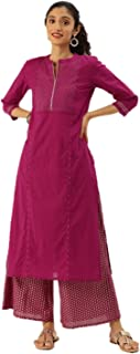 Kurta - Set da donna indiana dritta A-Line Anarkali Kurti set tunica abbigliamento partito