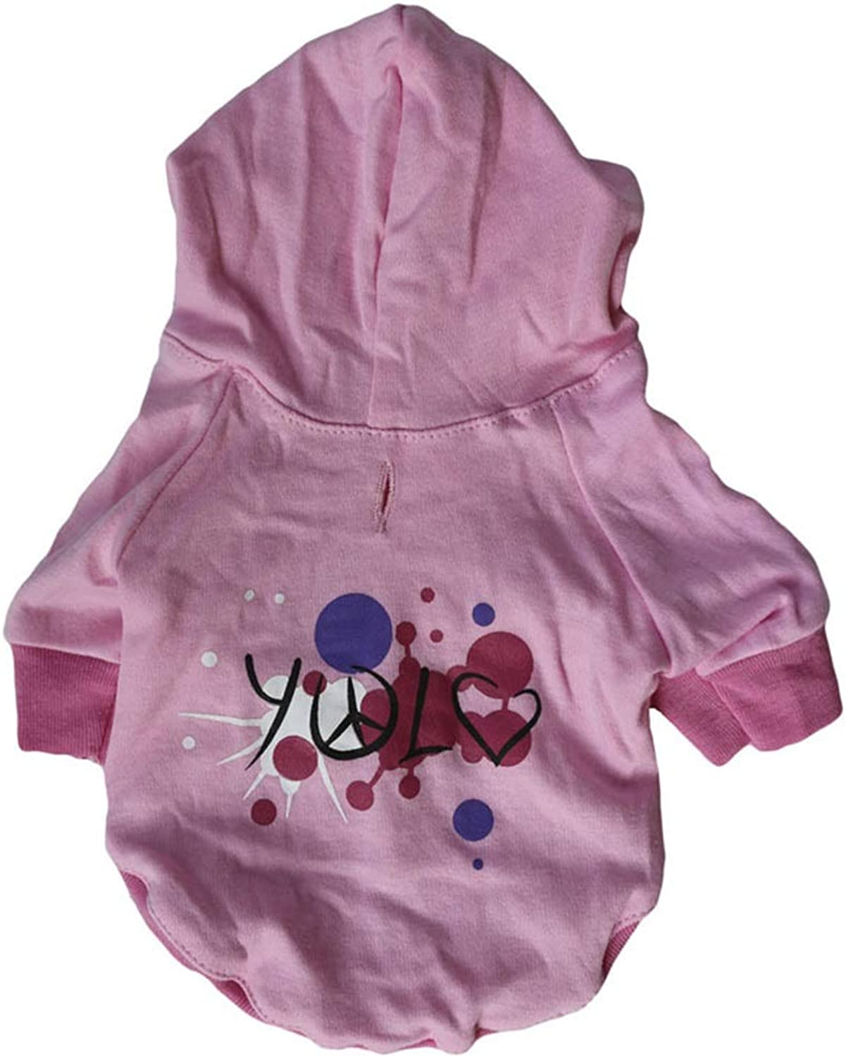 Huayue Precious Cotton Pink TShirt Dog Costume Hoodie (color   As Shown, Size   L)