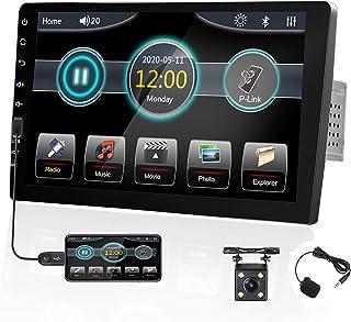 UNITOPSCI Car Stereo Single Din in Dash Car Radio 9 Inch Touch Screen with Bluetooth FM Radio Receiver Backup Camera Mirro... photo