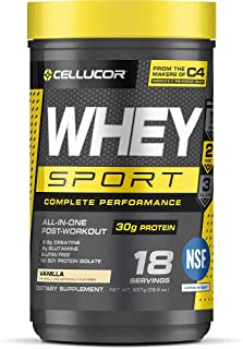 Cellucor Whey Sport Protein Powder, Post Workout Recovery Drink with Whey Protein Isolate, Creatine & Glutamine, Vanilla, ...