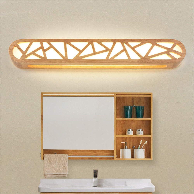 StiefelU LED Wandleuchte nach oben und unten Wandleuchten Led-Wandleuchte Spiegel vordere Scheinwerfer dual-use Holz Wohnzimmer Wand Lampen Schlafzimmer Nachttischlampe balkon Studie, b, 65x9.5cm