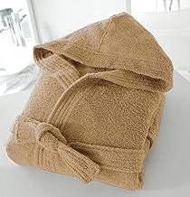 BellaCasa Casabella Uni Sex - Albornoz con Capucha (100% algodón, 500 g/m²), algodón, marrón Topo, S/M