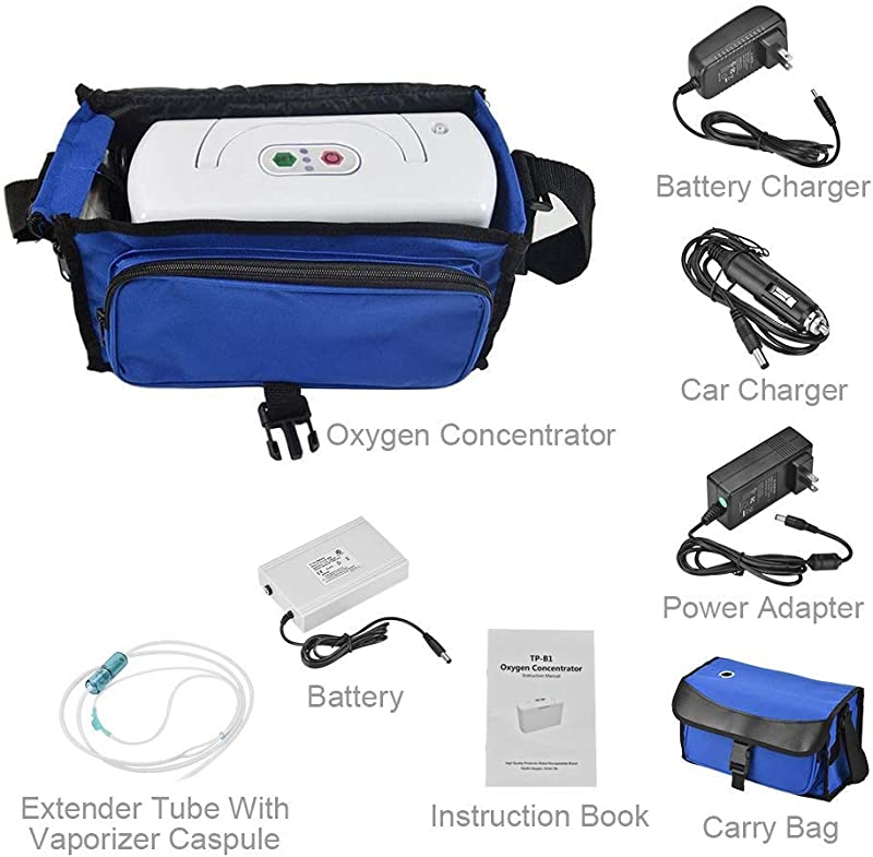HUKOER Portable O2 Concentrator Generator Air Purifier For Home And Travel
