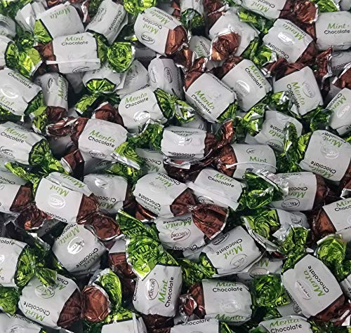 Arcor Chocolate Filled Mints Premium Hard Candy, Bulk Pack, 2Lbs
