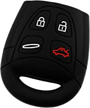 KeyGuardz Keyless Entry Remote Car Key Fob Outer Shell Cover Soft Rubber Protective Case for Saab 9-3 9.5 LTQSAAM433TX